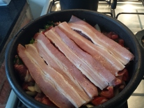 Barreado bacon
